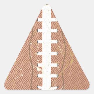 football vintage triangle sticker