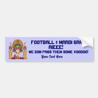 Football Voodoo Quarterback Please view notes Car Bumper Sticker