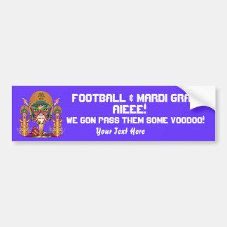 Football Voodoo Quarterback Please view notes Bumper Sticker