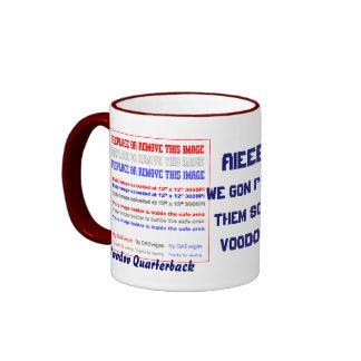 Football Voodoo Quarterback Please view notes Ringer Mug