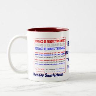 Football Voodoo Quarterback Please view notes Two-Tone Coffee Mug