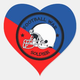 Football Warrior Heart Sticker