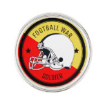 Football Warrior Pin