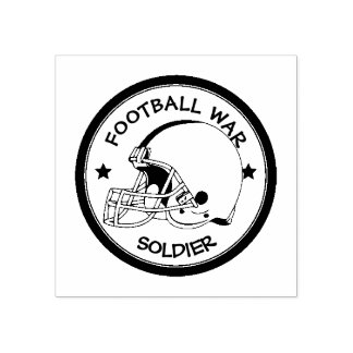 Football Warrior Rubber Stamp