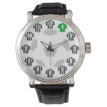 Football Watch - with Black & White Striped Shirts