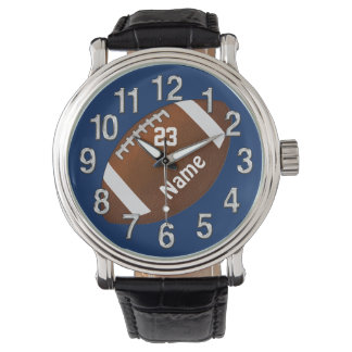 Football Watch with Your NAME, NUMBER and COLORS