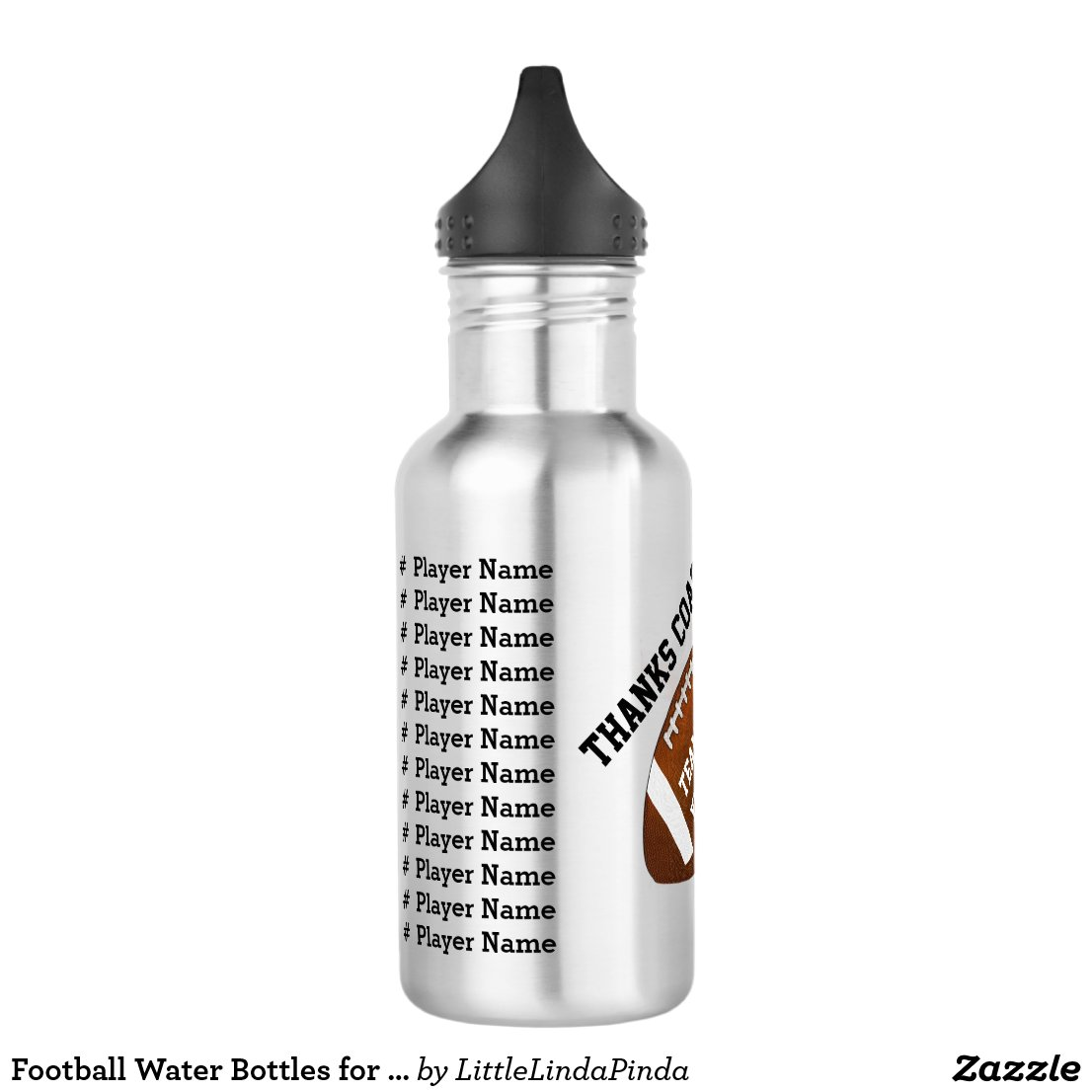 Football Water Bottles for Coaches or Players