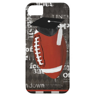Football wearing Graduation Cap, Football Words iPhone SE/5/5s Case