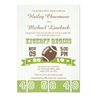 Unique Custom Football Themed Wedding Invitations - Unique ...