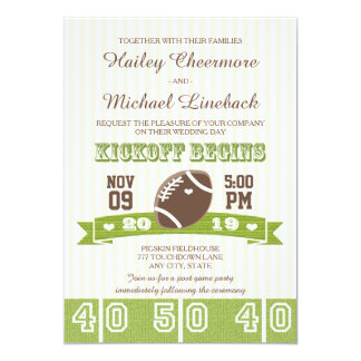 FOOTBALL WEDDING CARD