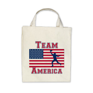 Football Wide Receiver American Flag Team America Bags