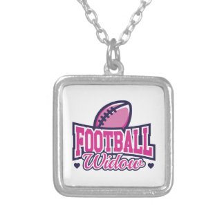 Football Widow Silver Plated Necklace
