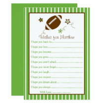 Football Wishes for Baby Card