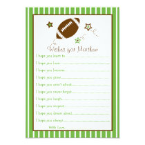 Football Wishes for Baby Cards