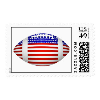 Football With American Flag Design (1) Postage