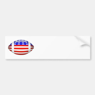 Football With American Flag Design (2) Car Bumper Sticker