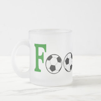 Football with Balls Frosted Glass Coffee Mug