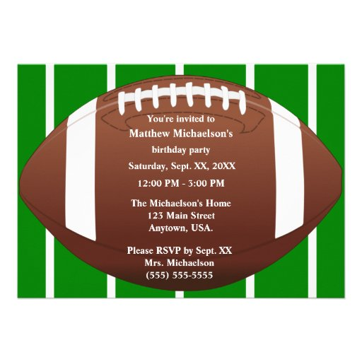Personalized Football birthday party Invitations – Football Party Invitation Template