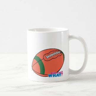 Football with Green Stripe Coffee Mug