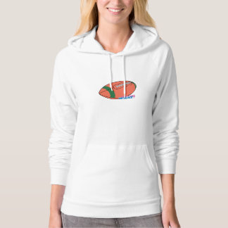 Football with Green Stripe Hoodie