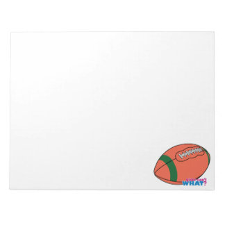Football with Green Stripe Note Pad