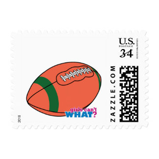 Football with Green Stripe Postage