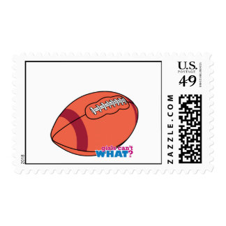 Football with Red Stripe Postage