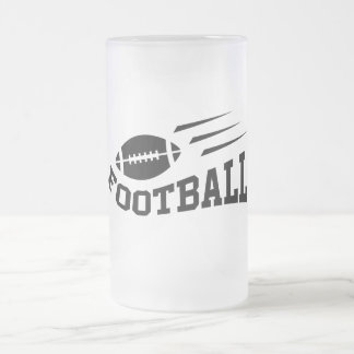 Football with speed lines - black print coffee mugs