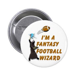 Football Wizard #1 2 Inch Round Button