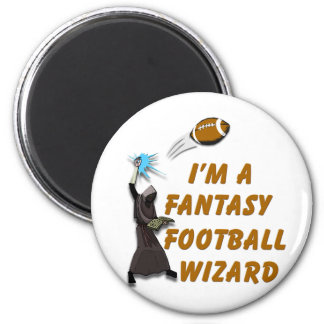 Football Wizard #1 2 Inch Round Magnet