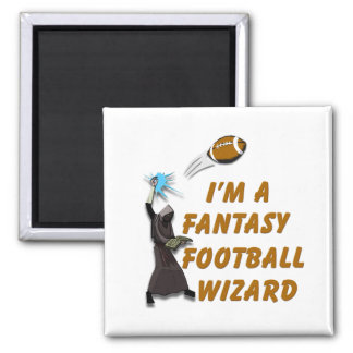 Football Wizard #1 2 Inch Square Magnet