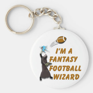 Football Wizard #1 Basic Round Button Keychain
