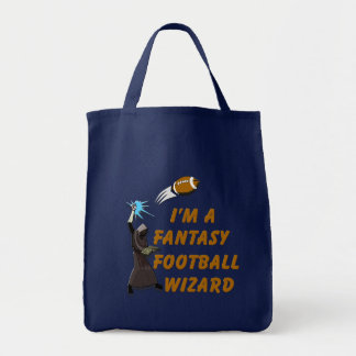 Football Wizard #1 Grocery Tote Bag