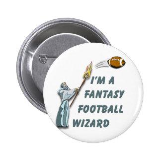 Football Wizard #2 2 Inch Round Button