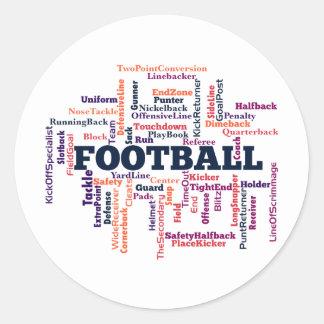 Football Word Cloud Classic Round Sticker