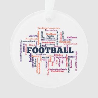 Football Word Cloud Ornament