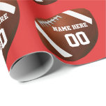 Football Wrapping Paper Your COLORS, NAME, NUMBER