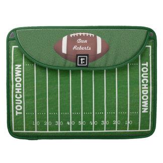 Football & Yardage Markings on a Green Grass Field MacBook Pro Sleeve