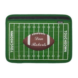 Football & Yardage Markings on a Green Grass Field MacBook Sleeve