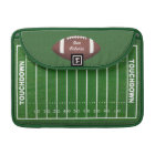 Football & Yardage Markings on a Green Grass Field Sleeve For MacBook Pro