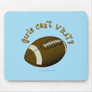 Football - Yellow Text Mouse Pad