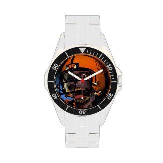 Football Zombie Stainless Steel Wristwatch
