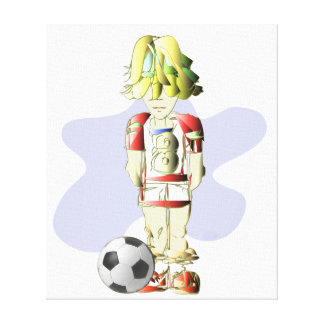 Footballer Art Wrapped Canvas