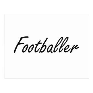 Footballer Artistic Job Design Postcard