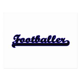 Footballer Classic Job Design Postcard