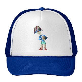 Footballer digital art trucker hat