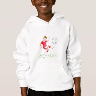 'Footballer' Hooded Kids Sweatshirt