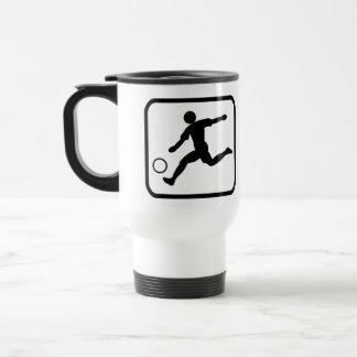 Footballer Pro 15 Oz Stainless Steel Travel Mug