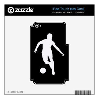 FOOTBALLER  ( White silhouette ) iPod Touch 4G Decal