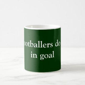 Footballers do it coffee mug